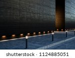 large blank modern street... | Shutterstock . vector #1124885051