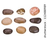 Sea Rounded Stones Isolated On...