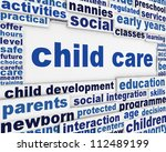 child care poster design. child ... | Shutterstock . vector #112489199