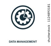 data management icon. line...
