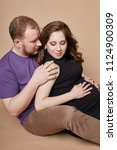couple is expecting a baby.... | Shutterstock . vector #1124900309