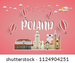 poland landmark global travel... | Shutterstock .eps vector #1124904251