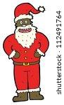 cartoon father christmas costume | Shutterstock . vector #112491764