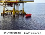 offshore oil and gas platform... | Shutterstock . vector #1124921714