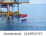offshore oil and gas platform... | Shutterstock . vector #1124921717