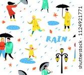 characters people walking in... | Shutterstock .eps vector #1124921771
