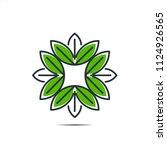 flower leaf green icon   | Shutterstock .eps vector #1124926565