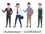 business man vector characters... | Shutterstock .eps vector #1124928107