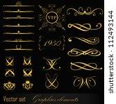 set of design elements | Shutterstock .eps vector #112493144