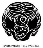 gemini twins horoscope... | Shutterstock .eps vector #1124933561