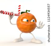 angry 3d fruit character with... | Shutterstock . vector #1124934557