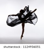 A Ballerina Dances With A Blac...