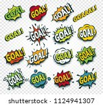 scored goal sticker  hit the... | Shutterstock .eps vector #1124941307