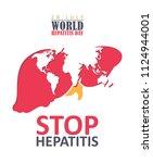 world hepatitis day vector... | Shutterstock .eps vector #1124944001