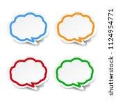 speech bubble set with gradient ... | Shutterstock .eps vector #1124954771