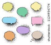 big color retro labels set... | Shutterstock .eps vector #1124954774