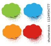 colorful speech bubble... | Shutterstock .eps vector #1124954777