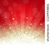 golden and red background with... | Shutterstock .eps vector #1124954801