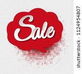 speech bubble sale transparent... | Shutterstock .eps vector #1124954807