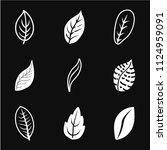 leaf icon vector  isolated on... | Shutterstock .eps vector #1124959091