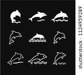 dolphin vector icon for animal... | Shutterstock .eps vector #1124959289
