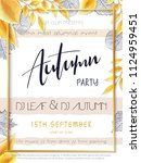 vector autumn party poster... | Shutterstock .eps vector #1124959451