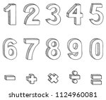 vector set of doodle sketch... | Shutterstock .eps vector #1124960081