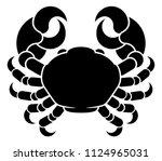 zodiac signs circular cancer... | Shutterstock .eps vector #1124965031