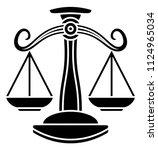 libra scales horoscope... | Shutterstock .eps vector #1124965034