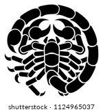 a scorpio scorpion horoscope... | Shutterstock .eps vector #1124965037