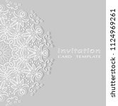 invitation or card template...   Shutterstock .eps vector #1124969261