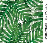 palm monstera seamless pattern. ...   Shutterstock .eps vector #1124973377