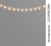 christmas lights isolated on a... | Shutterstock .eps vector #1124981384