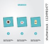 set of drink icons flat style... | Shutterstock .eps vector #1124981477