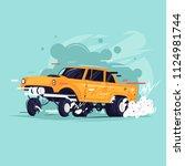 gasser. flat design vector... | Shutterstock .eps vector #1124981744