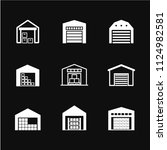 warehouse icon vector  symbol ... | Shutterstock .eps vector #1124982581