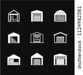 warehouse icon vector  symbol ... | Shutterstock .eps vector #1124982581