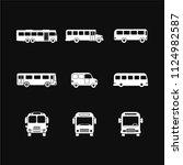 bus icon vector solid logo... | Shutterstock .eps vector #1124982587