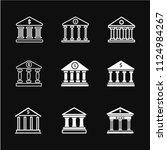 bank icon vector  business... | Shutterstock .eps vector #1124984267