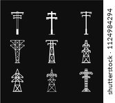 electric tower icon vector in... | Shutterstock .eps vector #1124984294