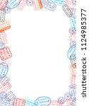 vertical a4 size white sheet of ... | Shutterstock .eps vector #1124985377