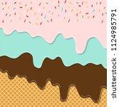 sweet flavor ice cream texture... | Shutterstock .eps vector #1124985791