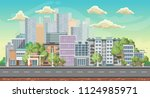 vector game background.... | Shutterstock .eps vector #1124985971
