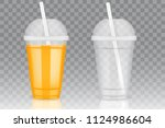 filled with orange juice and...   Shutterstock .eps vector #1124986604
