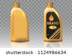 engine oil plastic bottle... | Shutterstock .eps vector #1124986634