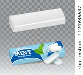 chewing gum paper packaging... | Shutterstock .eps vector #1124986637