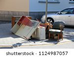bulky waste  household trash | Shutterstock . vector #1124987057
