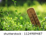 eco image of  thermometer  ... | Shutterstock . vector #1124989487