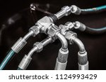 fuel system of the tubes and... | Shutterstock . vector #1124993429