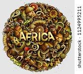 cartoon cute doodles africa... | Shutterstock .eps vector #1124995211